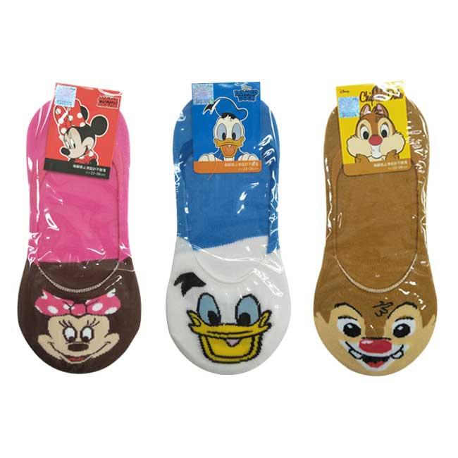 22-26cm 襪子 迪士尼 米妮 唐老鴨 蒂蒂 隱形襪 後腳跟止滑 成人襪 卡通襪