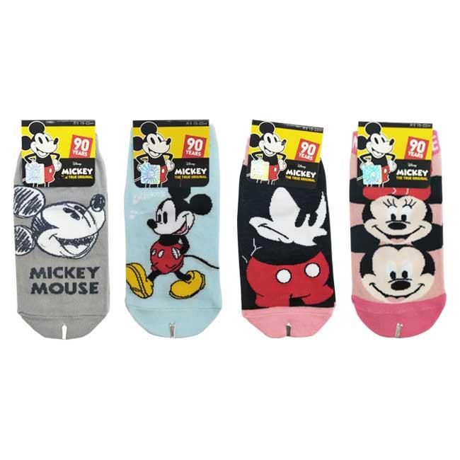 15-22cm 襪子 迪士尼 90周年紀念款 米奇 米妮 直版襪 卡通襪 兒童襪