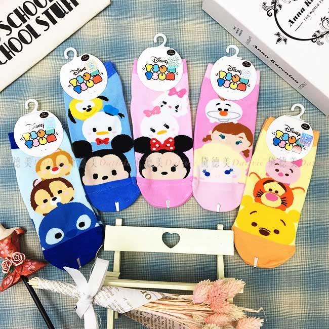 15-22cm 22-26cm 襪子 迪士尼 TSUMTSUM 米奇米妮 奇奇蒂蒂 冰雪奇緣 小熊維尼 兒童襪 成人襪 卡通襪