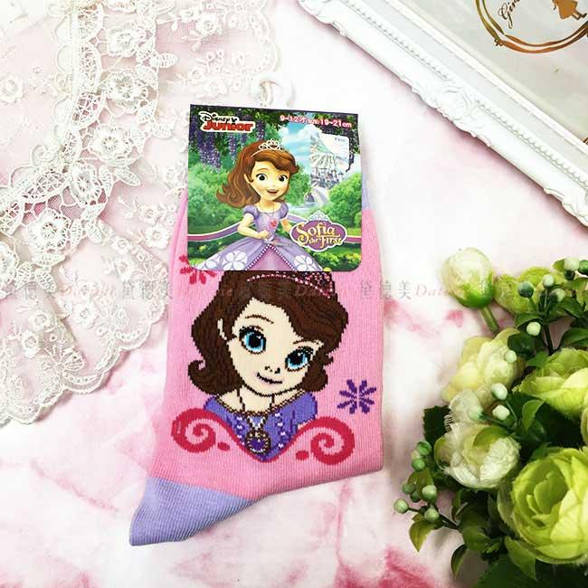 15-18cm 19-21cm 襪子 迪士尼 公主系列 小公主蘇菲亞 兒童襪 卡通襪