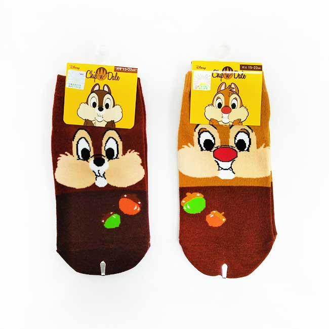 15-22cm 襪子 迪士尼 奇奇 蒂蒂 大臉圖案 孩童襪 短襪 直板襪 卡通襪
