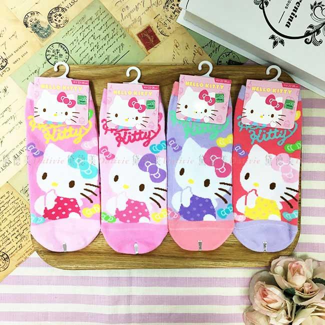 15-22cm 22-26cm 襪子 三麗鷗 Hello Kitty 點點衣 可愛寶寶 直版襪 孩童襪 成人襪 短襪