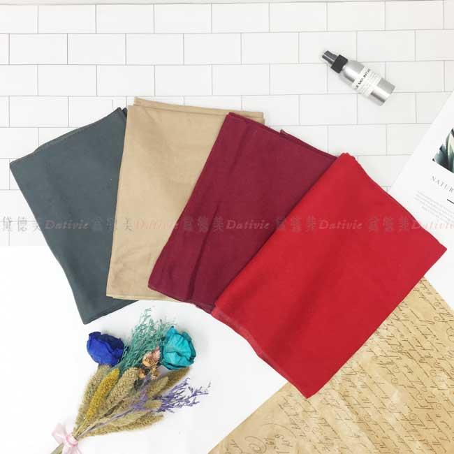 圍巾 加厚 素色 百搭 短流蘇 大地色 4色
