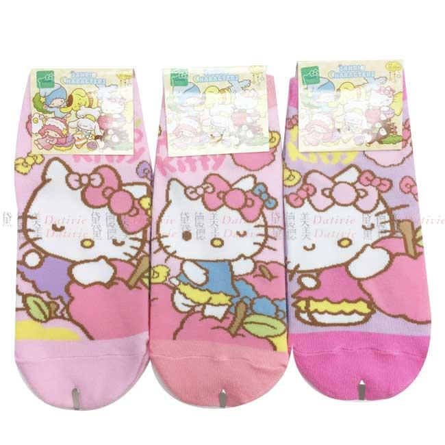 襪子 kitty 三麗鷗 白日夢系列 直版襪大 三款 22~26 正版授權