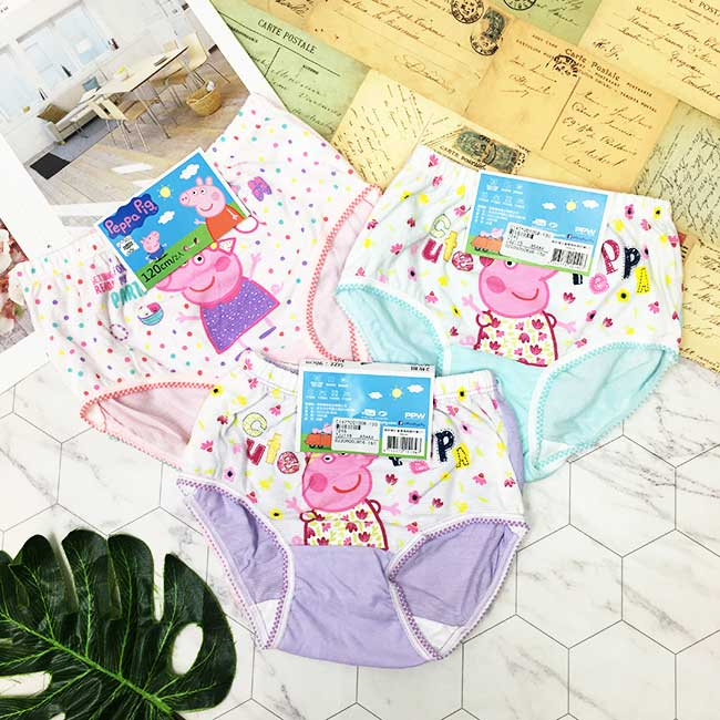 內褲 佩佩豬 Peppa Pig 純棉 兒童 女童 內褲 隨機花色 90-130cm 2入