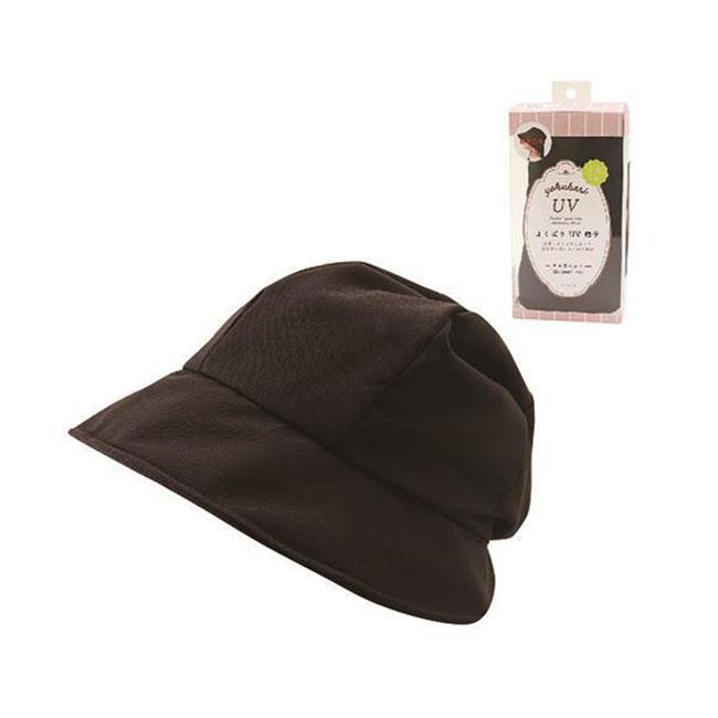貴婦百貨 遮陽帽 日本 抗UV 後綁帶 蝴蝶結 可調整 輕巧 收納 多機能 黑色 日本進口