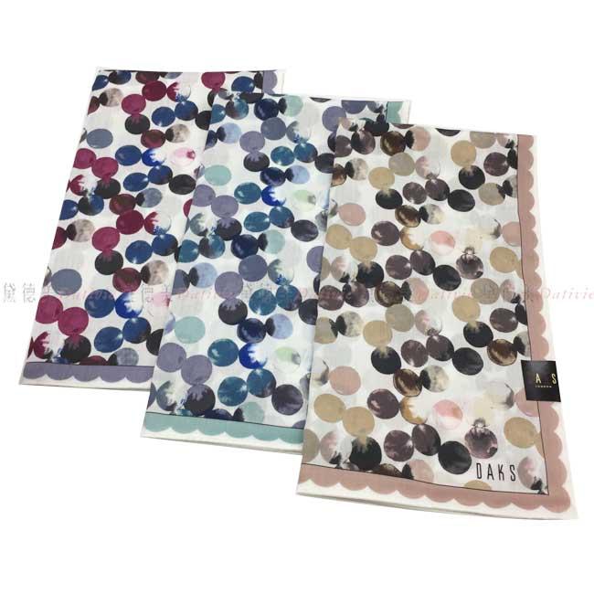 日本製 手帕 DASK 泡泡圖騰 小方巾 領巾 優雅 親膚 純棉 三款選 日本手帕