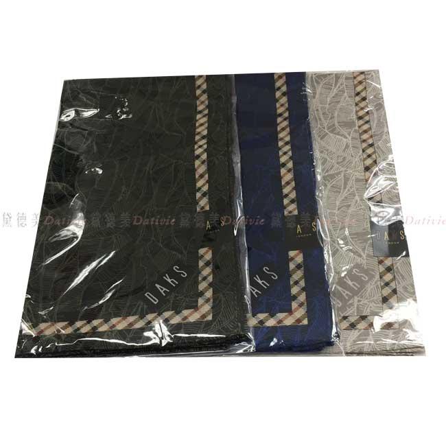 日本製 手帕 DASK 葉子 脈絡 小方巾 領巾 優雅 親膚 純棉 三款選 日本手帕