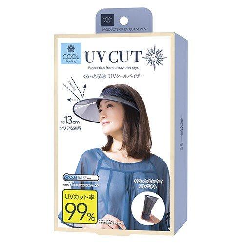 貴婦百貨 抗UV 遮陽帽 淑女帽 藍  點點 可收納 uv帽 輕量 遮熱 防曬帽 遮陽 日本進口