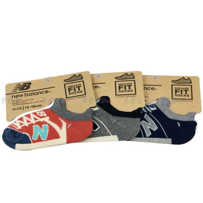 襪子 兒童襪 NEW BALANCE 紅 灰 藍 三款 13~19CM