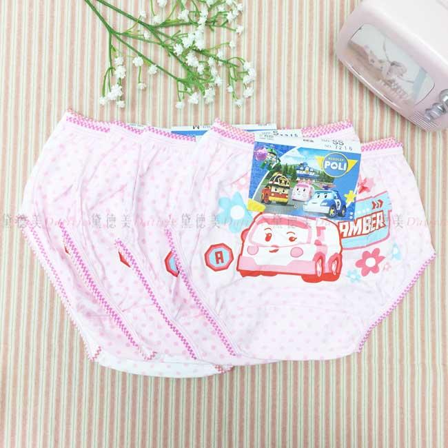 兒童內褲 波力 POLI 安寶 2入組 女童 粉色白色 點點 純棉 正版授權