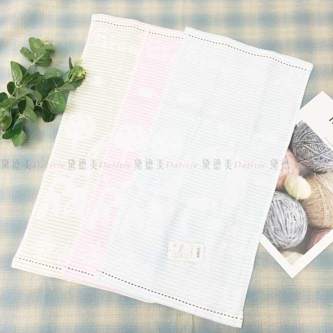 童巾 條紋 長頸鹿 太陽 星星 雲 樹 毛巾 3色 100%純棉