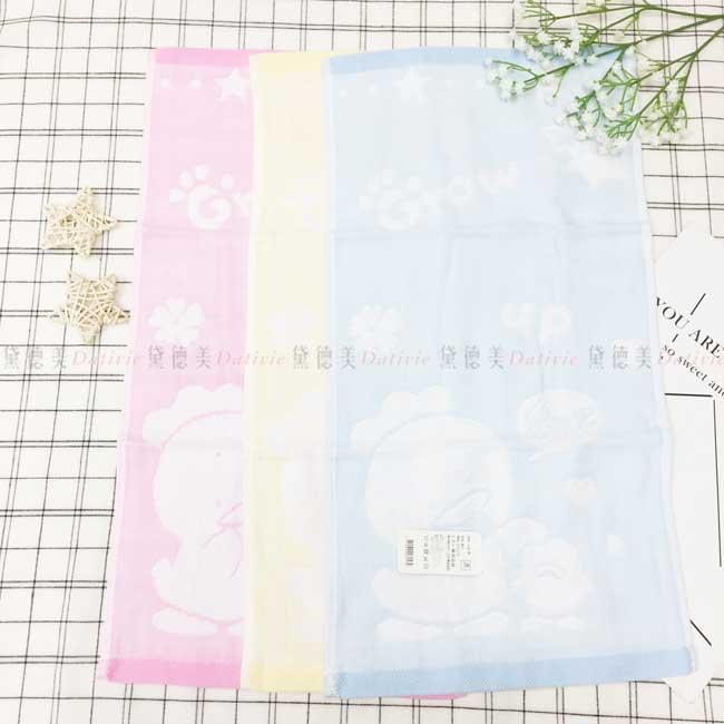 童巾 星星 愛心 可愛鴨子 100%棉 3色 毛巾