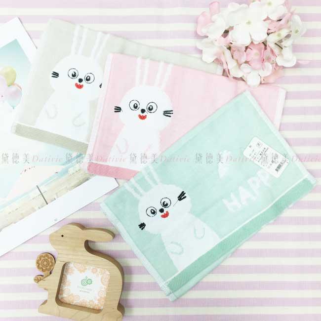 童巾 可愛兔子 胡蘿蔔 毛巾 100%棉 3色