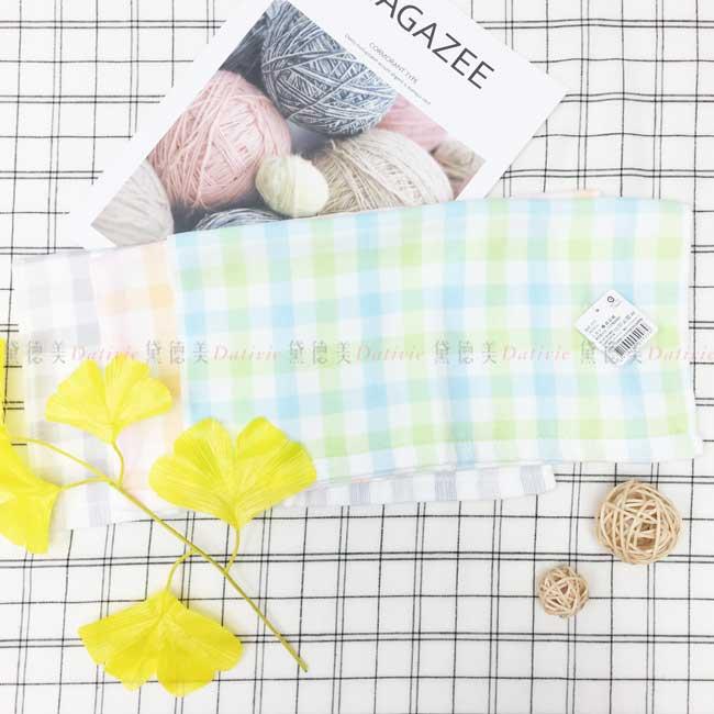 方巾 格子 格紋 簡約 3色 100%棉 毛巾