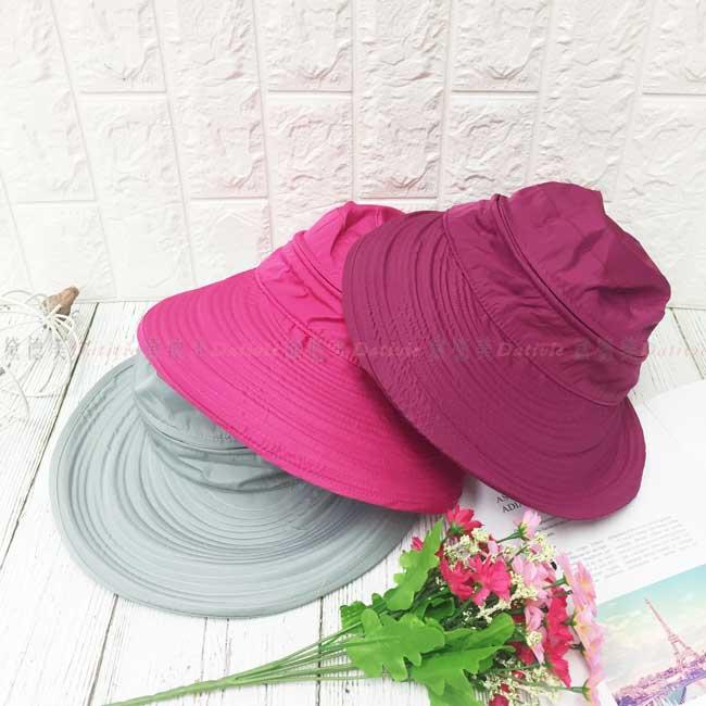 遮陽帽 魔鬼氈 後蝴蝶結 拉鍊可拆 兩用帽 3色