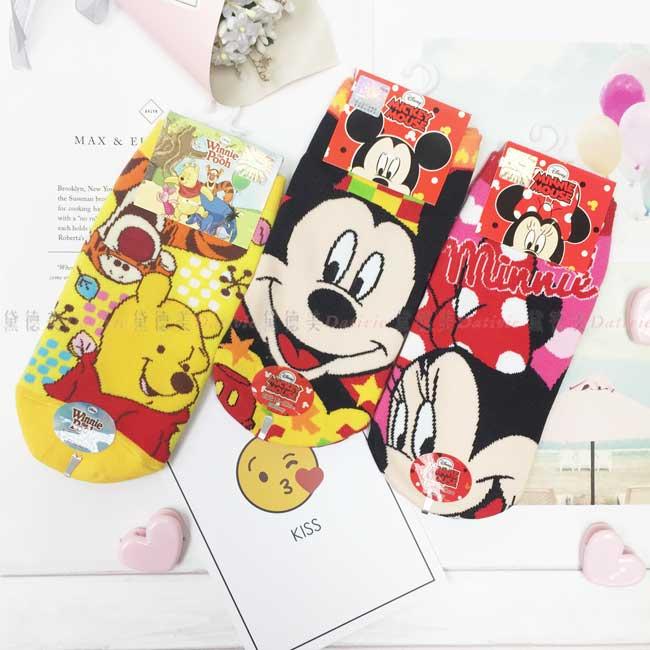 童襪 迪士尼 Disney 小熊維尼 米奇米妮 15~22cm 直版襪 正版授權