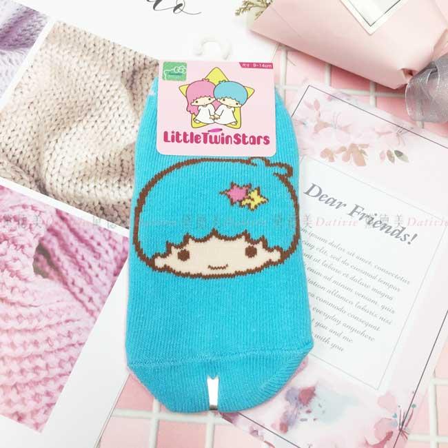 童襪 三麗鷗 kikilala 雙子星 9~14cm 直版襪 撞色 粉藍 正版授權