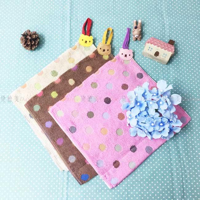 擦手巾 毛巾 小熊 圓點點 3色 100%棉