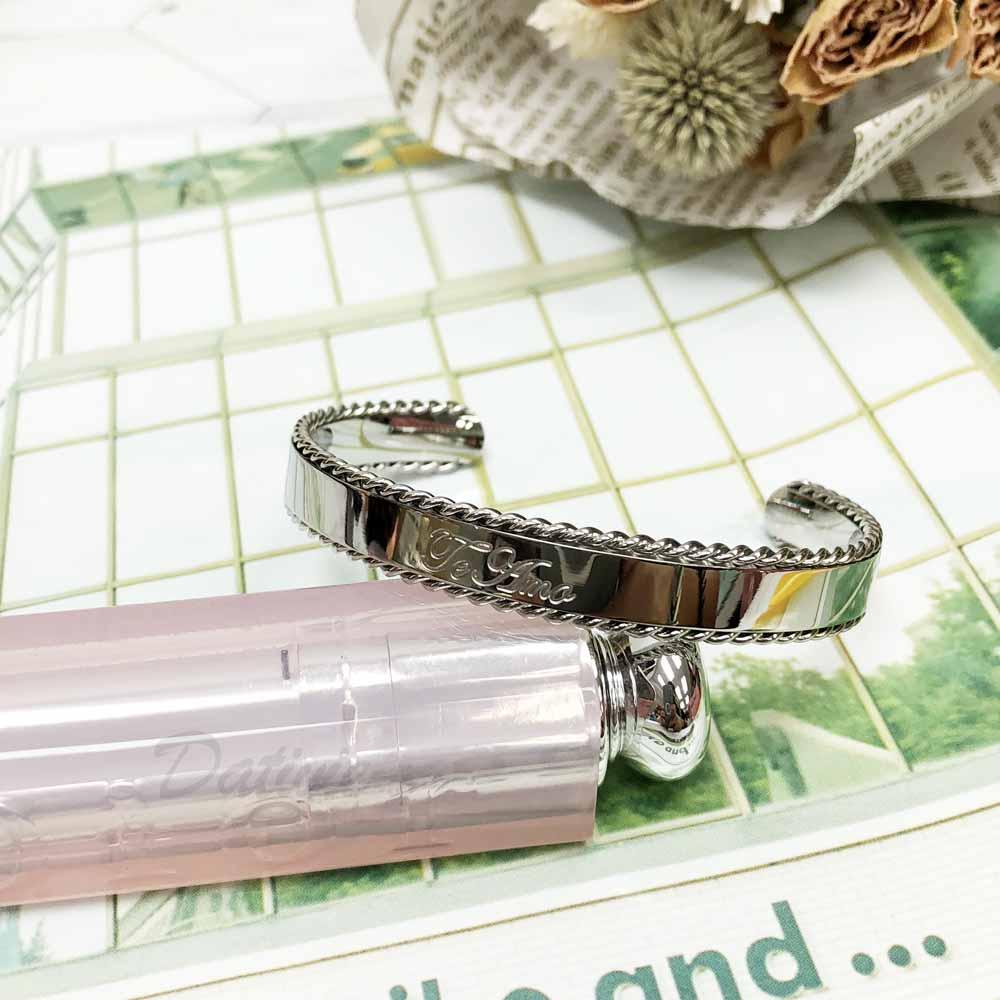 不銹鋼 簡單 JEAMA 滾邊設計 寬版 手環 手飾