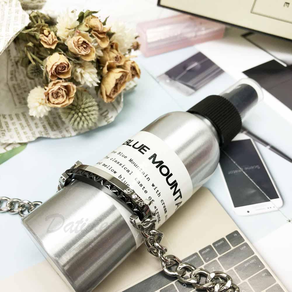 不銹鋼 黑銀 雙色 黑浮雕 LOVE 鑲鑽 寬版 手鍊 手飾