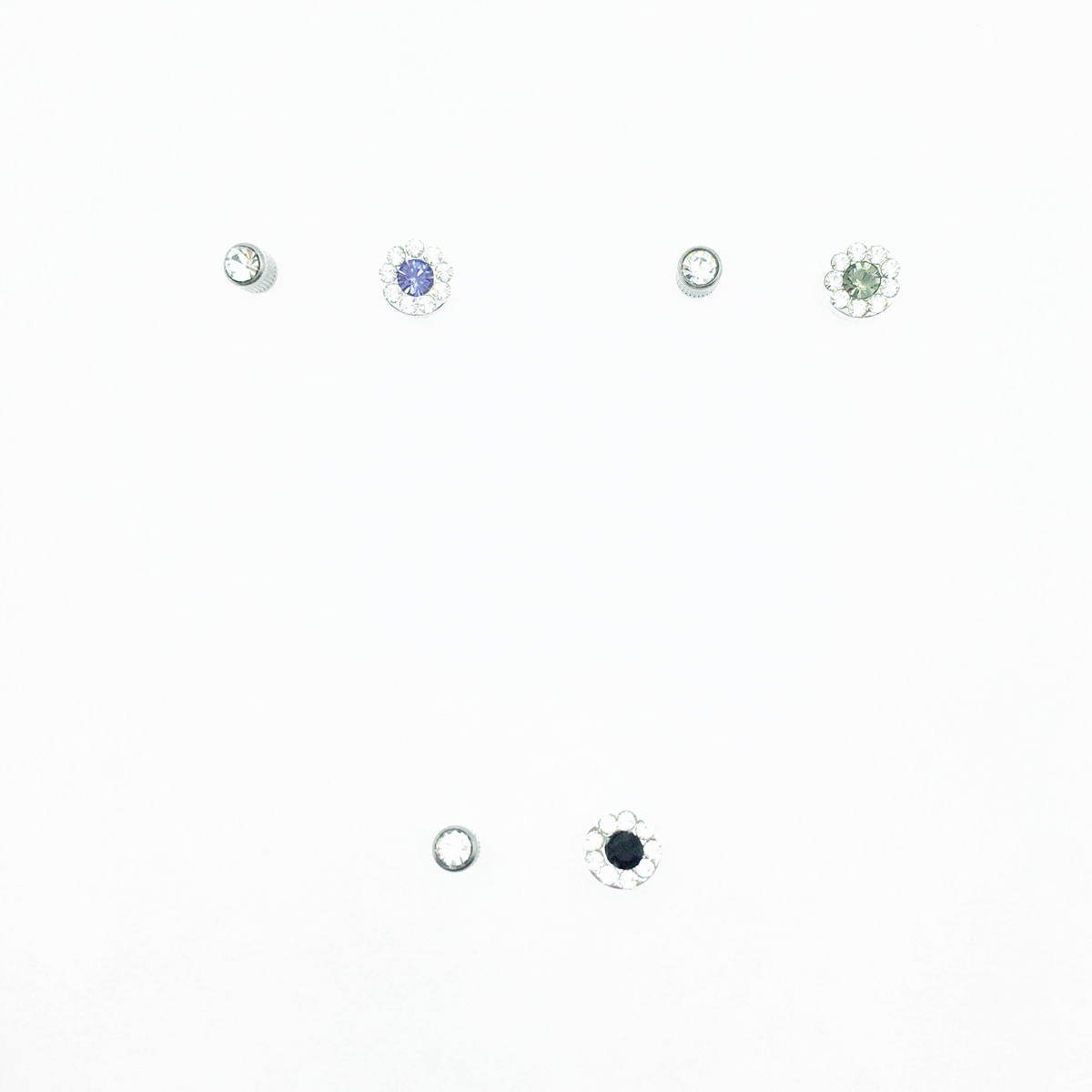 不鏽鋼 圓圈 包鑽 水鑽 切割面 基本款 後轉式耳環