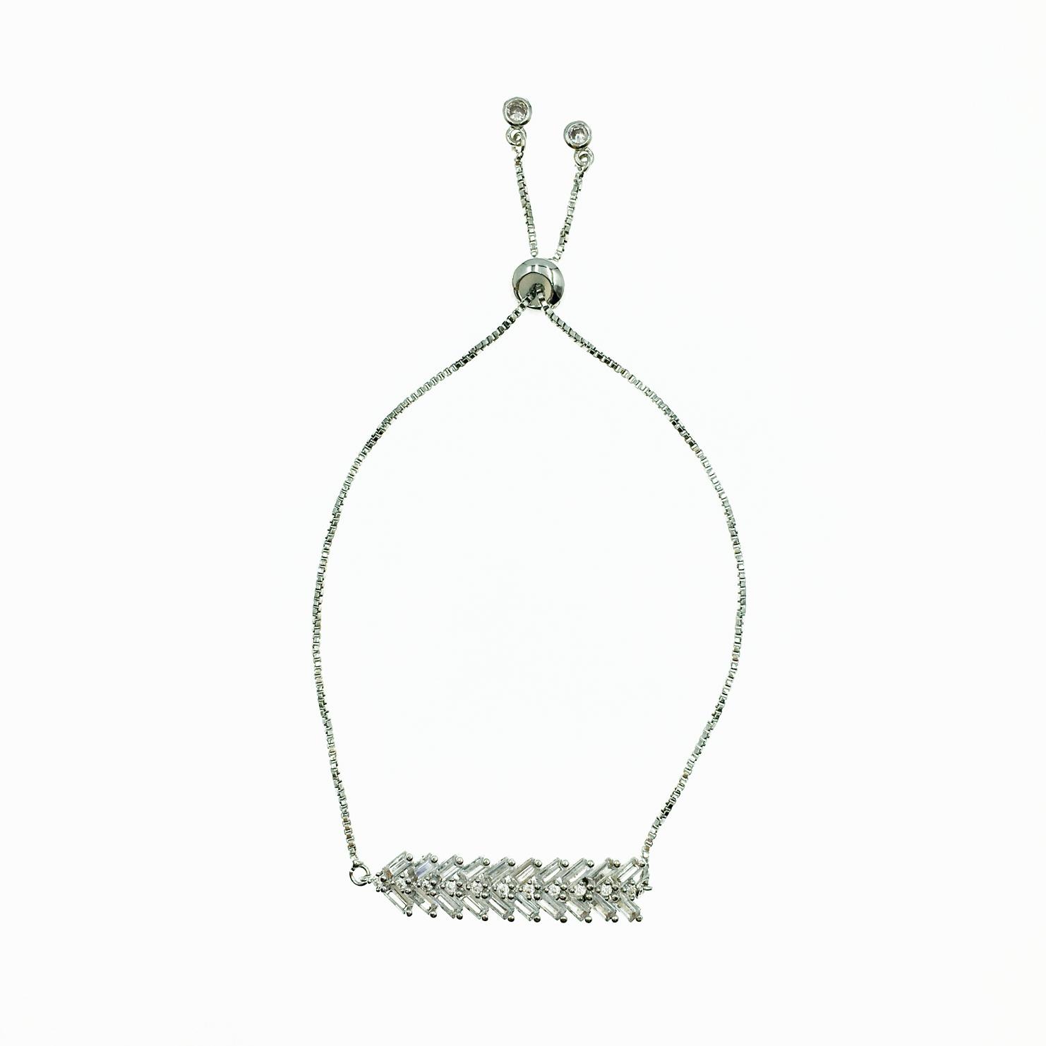 925純銀 箭頭符號 水鑽 精緻 手鍊