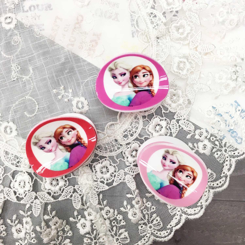 鯊魚夾 韓國 迪士尼 冰雪奇緣 Elsa艾莎 Anna安娜 粉紅 桃粉 紅 髮夾 髮飾