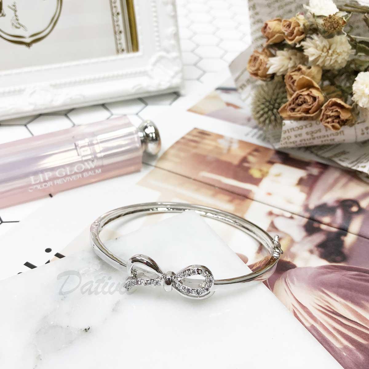 緞帶 蝴蝶結 線條 鑲鑽 經典 氣質款 手環 手飾