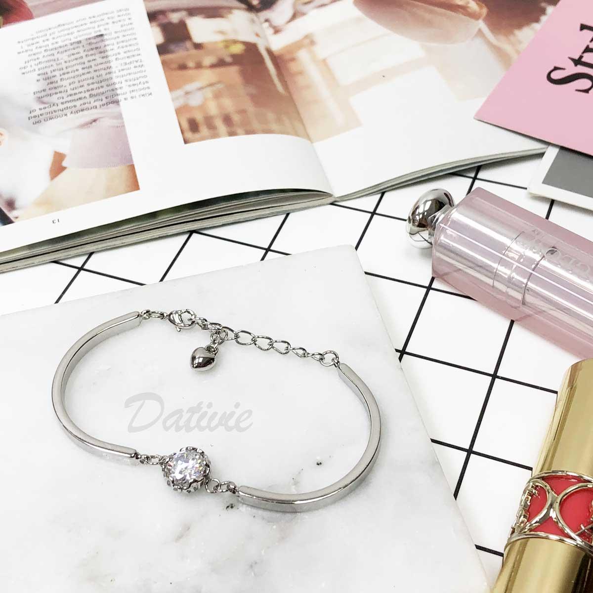 簡約 璀璨 單鑽 氣質款 手環 手飾