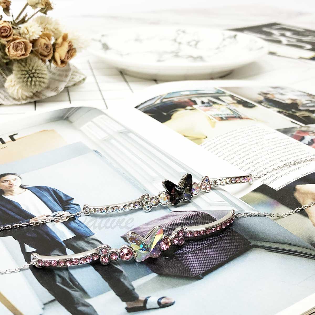 展蝶 蝴蝶 鑲鑽 個性 華麗款 手環 手飾