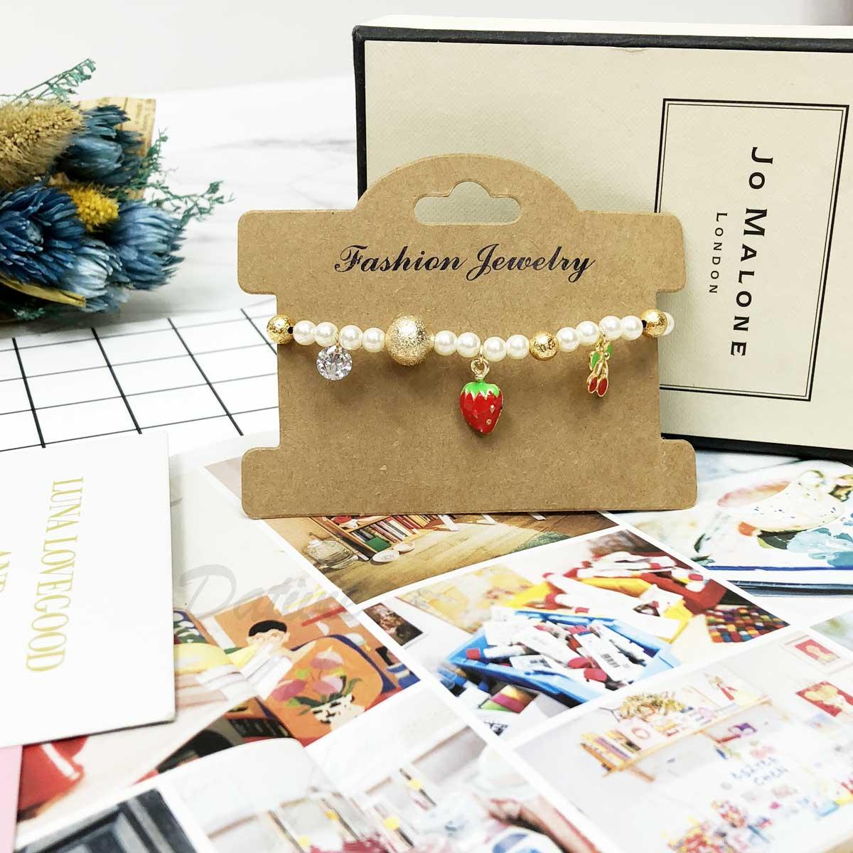 串珠 吊墜 墜飾 草莓 櫻桃  手環 手飾