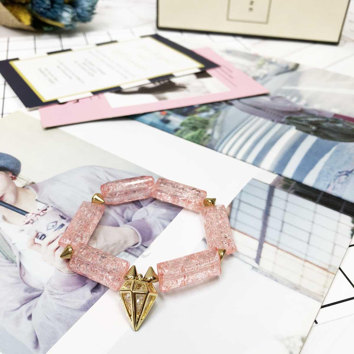 串珠 鑽石 鉚釘 中空 崁鑽 大方石 手環 手飾