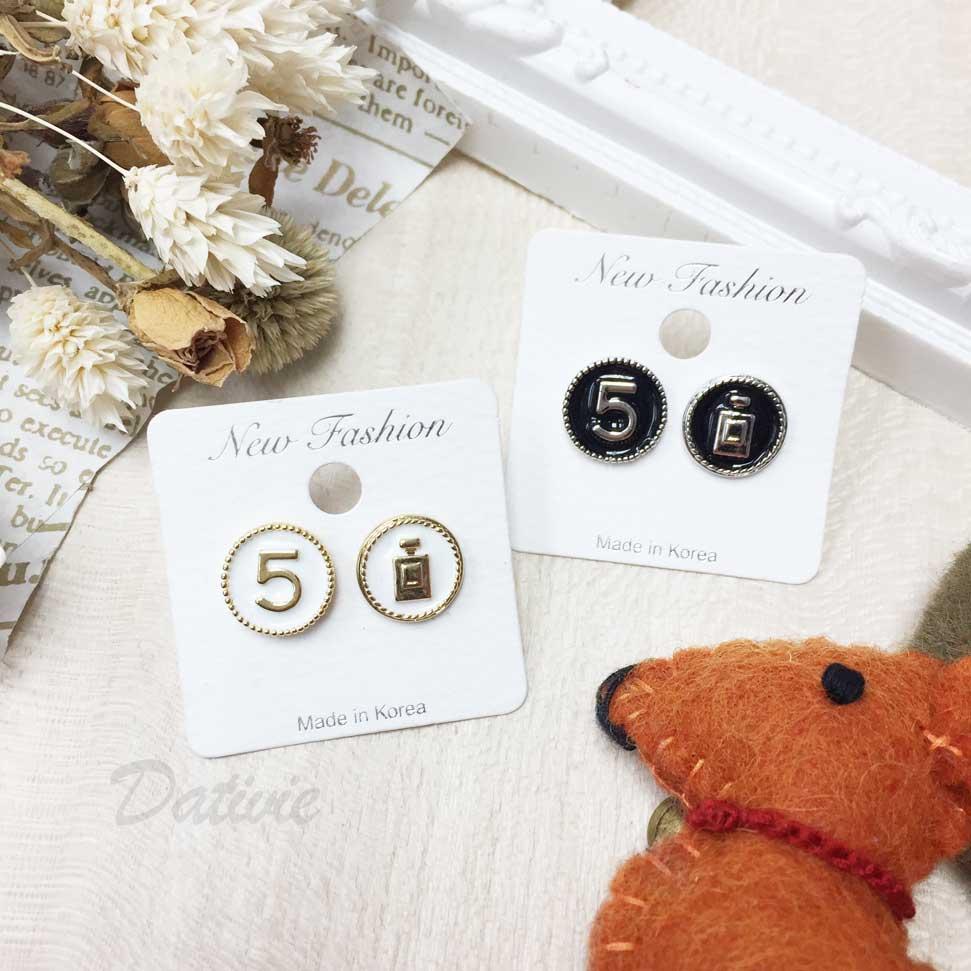 小香風 5號 香水 耳針耳環