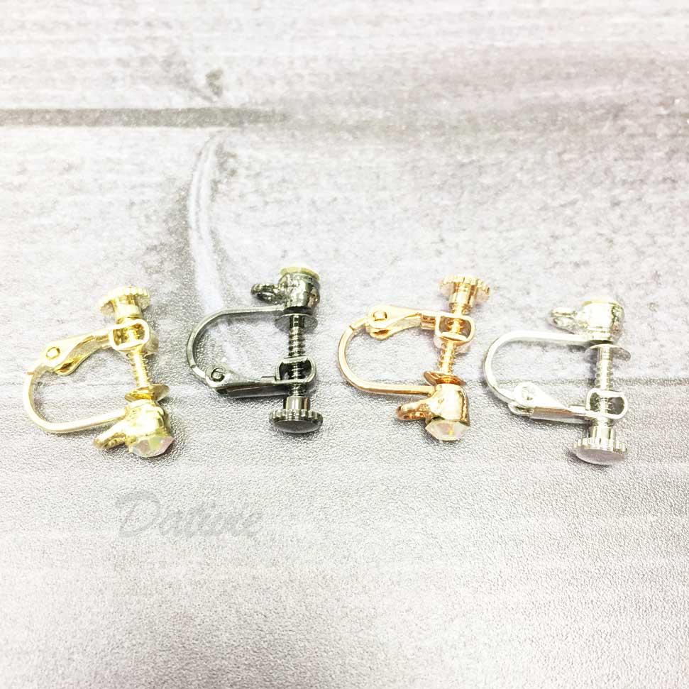彩鑽耳夾材料4入(耳勾專用)