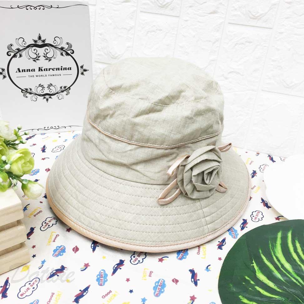 包邊配色 玫瑰花 帽沿車線 帽子 遮陽帽 淑女帽