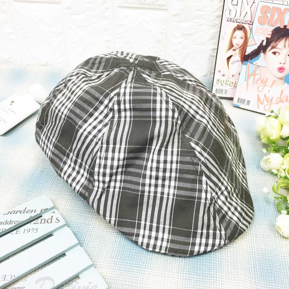 格紋 個性風 帽子 偵探帽 淑女帽