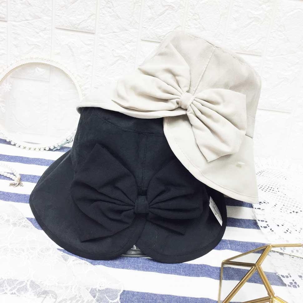 開岔 蝴蝶結 帽子 遮陽帽 淑女帽