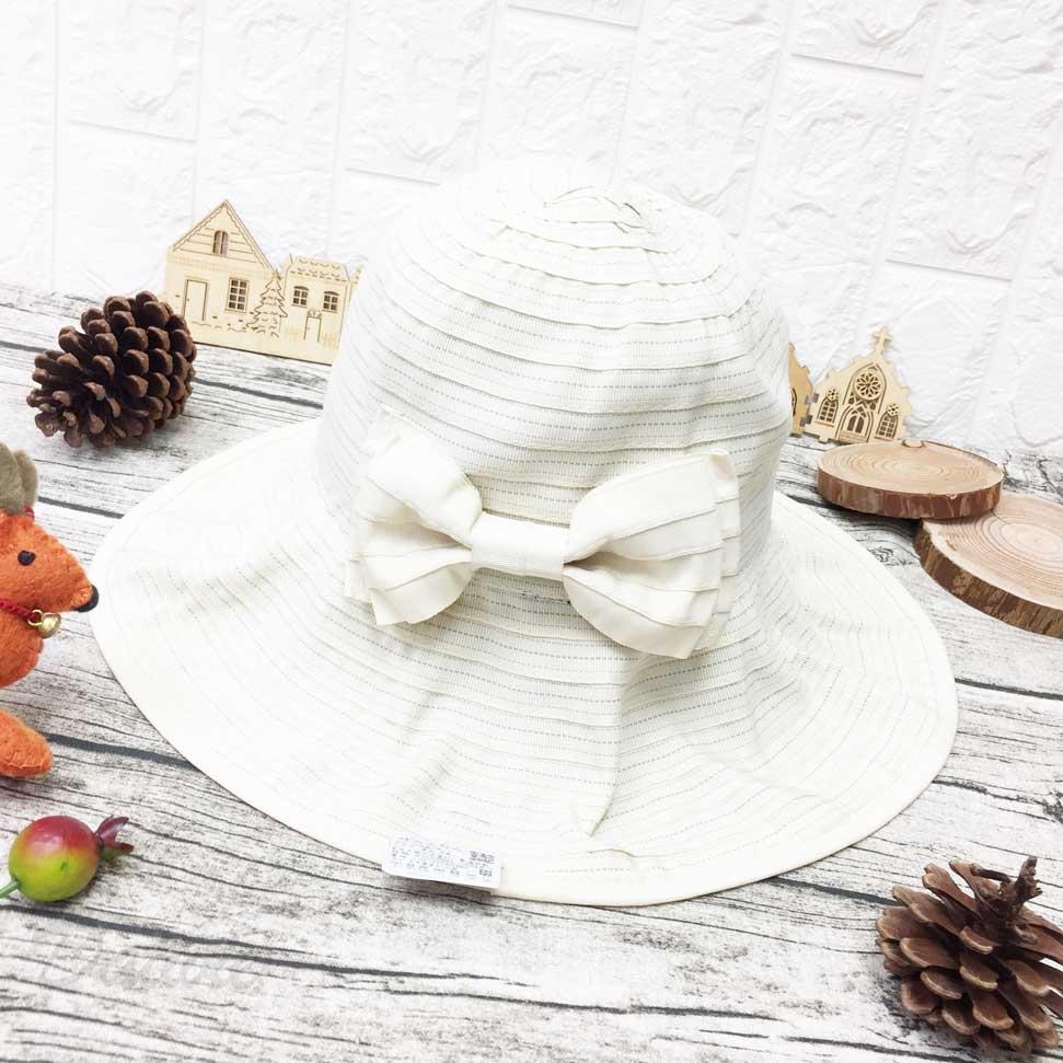 條紋 線條 花紋 蝴蝶結 米色 拉繩 帽子 遮陽帽 淑女帽