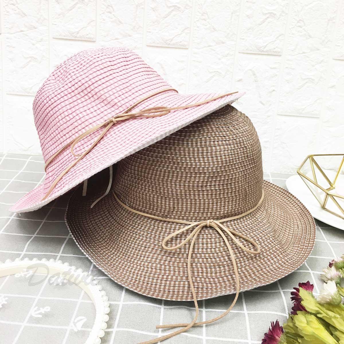 蛋糕層次 綁繩 蝴蝶結 頭圍可調鬆緊 兩色 帽子 遮陽帽 淑女帽