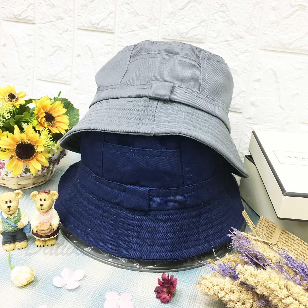 素色 立體帽沿邊線 漁夫帽 帽子 遮陽帽 淑女帽
