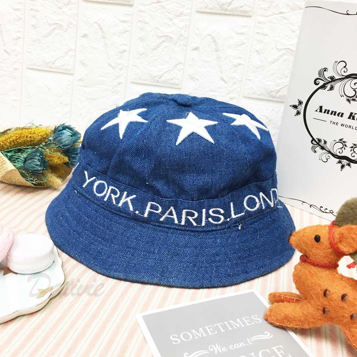 環繞 星星 英文字 紐約 巴黎 倫敦 日本 1979 米蘭 深藍色 帽子 淑女帽