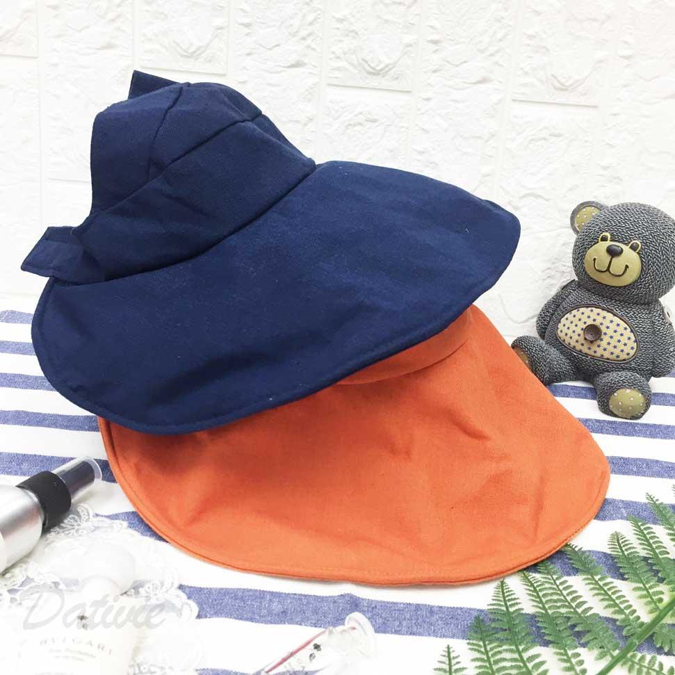 遮陽帽 英文字 小蝴蝶 後魔鬼氈可調鬆緊 帽子