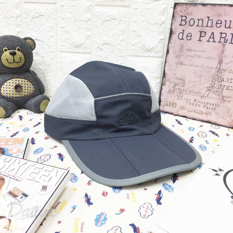 運動帽 山 英文字 車線邊 帽沿可摺動 透氣式 後可調鬆緊 帽子