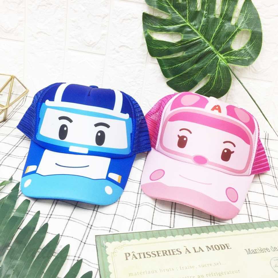 兒童帽 POLI 波力 救援小英雄 安寶 透氣網格 後可調鬆緊 帽子 網帽