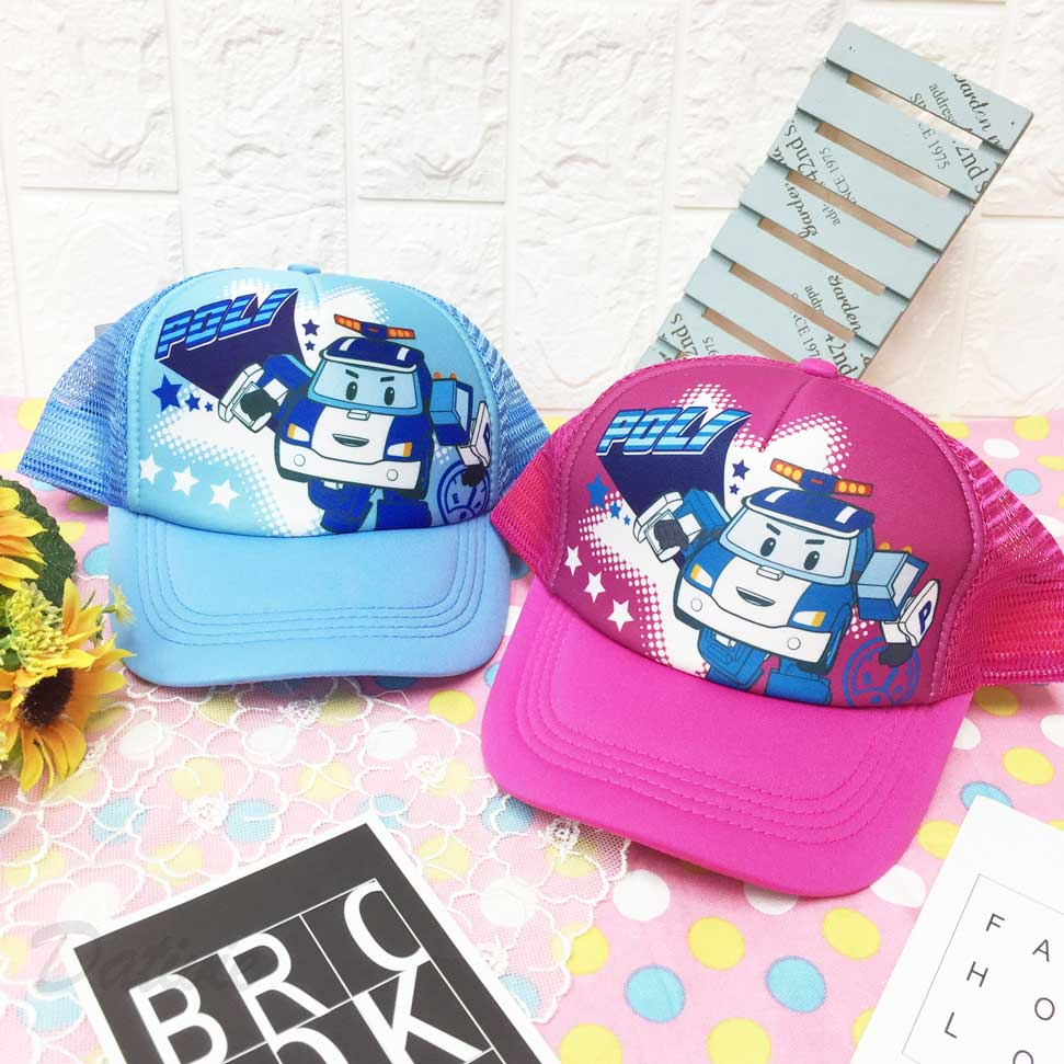 兒童帽 POLI 波力 救援小英雄 星星 內裡柔軟 透氣式 後可調鬆緊 帽子網帽