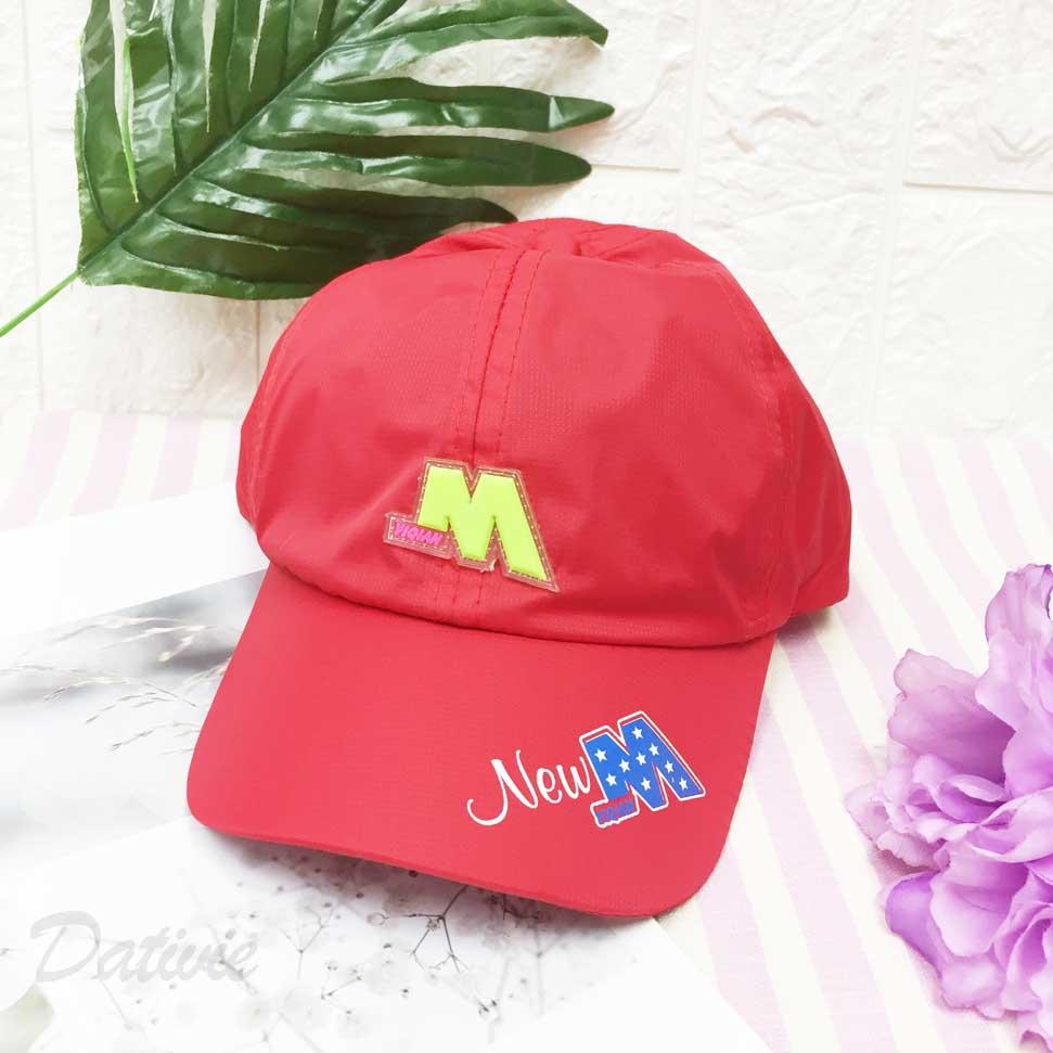 兒童帽 立體M 英文字樣 螢光色 星星 後鬆緊可調 帽子 棒球帽