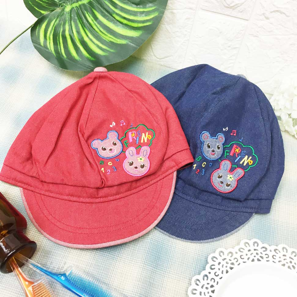 兒童帽 熊熊 兔子 動物 數字 英文 帽子 報童帽