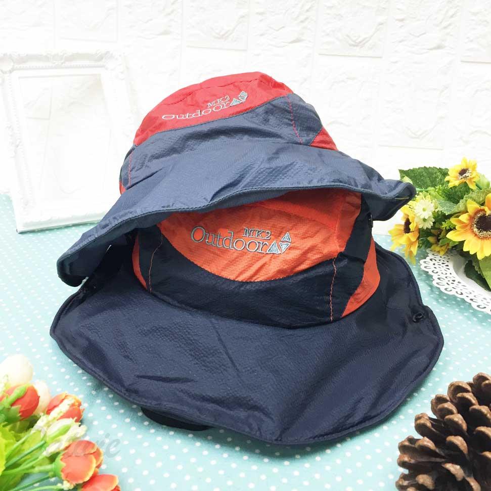 兒童帽 野外 英文字 配色 帽沿鐵邊可彎曲 扣子可扣 有拉繩可調鬆緊 帽子 露營帽