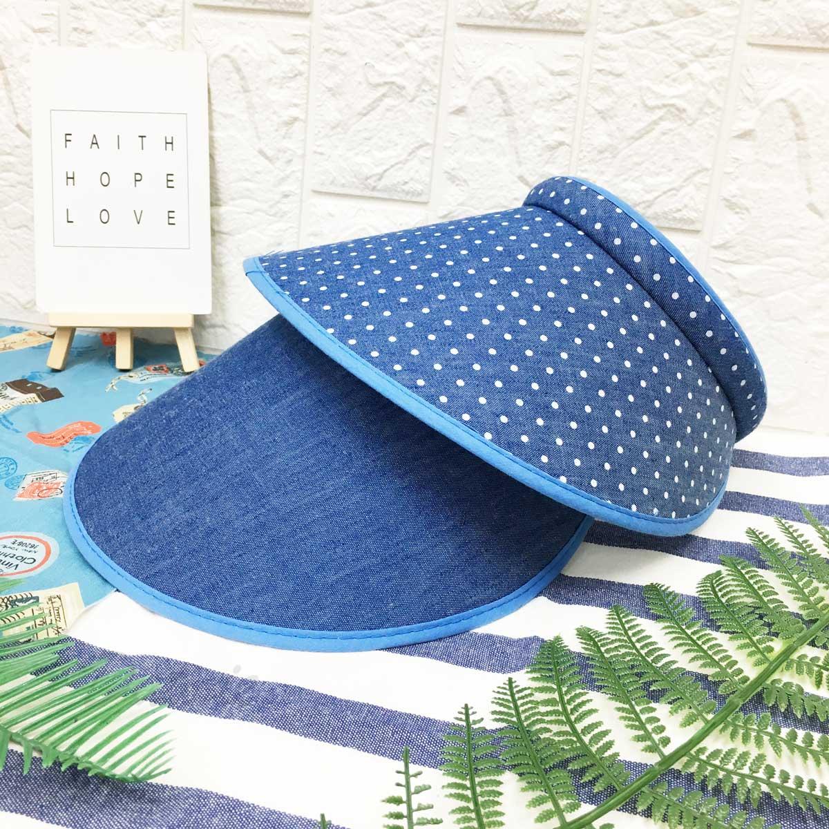 髮箍遮陽帽 點點 素面 帽沿包邊配色 內裡毛料 帽子 空頂帽